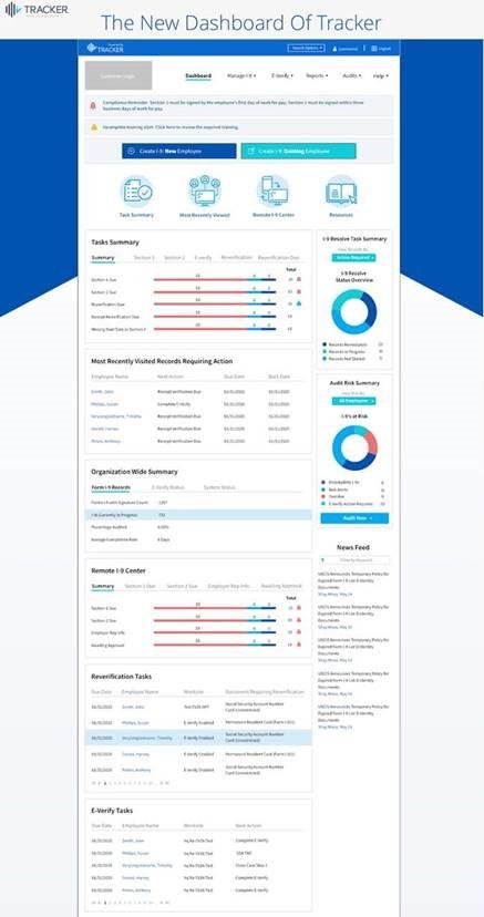 Tracker Dashboard